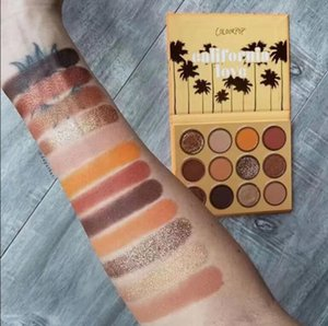 ColourPop 12 Colors California Love Matte Shimmer Eyeshadow Powde Palette Eye Shadow Beauty Makeup Palettes de maquillage