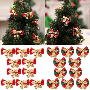 Enfeites de decoração Xmas bowknot partido Sino novo do Natal do casamento do jardim Decorações de Natal Para Casa # NE830