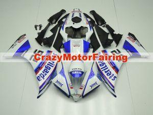 Yeni ABS Kalıp motosiklet plastik Marangozluk Kitleri YAMAHA YZF-R1-1000 Için Fit 2012-2014 12 13 14 Fairing kaporta set özel serin beyaz mavi