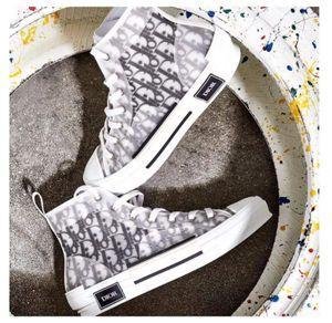 Diòr Homme x KÀWS By Kìm Jones High Top Fashion Design Sneaker Classic Oblìque Printing Logos Men Women Casual Shoes Skateboard Shoes