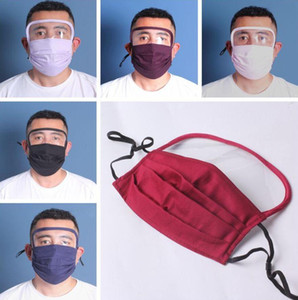 2 in 1 Face Shield Mask Plastic Screen Full Face Protection Isolation Mask Anti-fog Oil Protective Mask Shield Washable