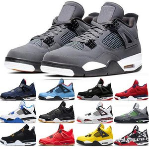 4 Cool Grey 4s Men Basketball Shoes OG Bred For 2020 What The Pale Citron Mens Sneakers Sports Size 36-47 Drop Shipping