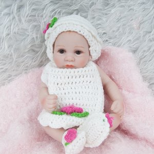 28CM Newborn baby dolls sweater Reborn Silicone 11inch Full Body Accompany Soft Baby Alive Doll For Boys Girls Princess Prince Kid Girls toy