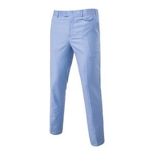 Office Casual Solid Pantalon Costume Formal Dress Pants Men Flat Slim Business Man Suit Pants spring Summer Thin Trousers