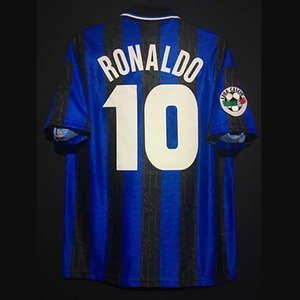 Retro Inter Football Maillots Ronaldo Milito Baggio Crespo Vieri Sneijder Zanetti Vieira Batistuta Vintage Milan Kit classique T-shirt