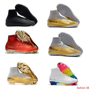 2020 Hot ragazzi scarpe da calcio Mercurial Superfly V SX Neymar Ronalro CR7 FG tacchetti da calcio indoor scarpe da calcio Mens botas de futbol Turf