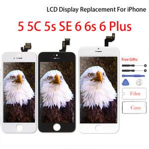 Pantalla LCD para el iPhone 5 5c 5s Asamblea digitalizador de pantalla de reemplazo Sin Dead Pixel LCD del teléfono móvil para el iPhone 6 6s
