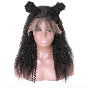 Curly Black Lace Front Wig Human Hair Brazilian Long Curly Lace Wig For Black Women Kinkys Curly 150% Density Wig With Baby Hair