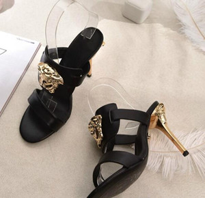 For sale Classic style sandals high-end custom high heels European station high quality casual shoes manufacturers promotion with box 35-41