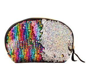 Make-up-Tasche Mermaid Pailletten Cosmetic Bag Glitzer-Make-up Taschen Bling Shell-Beutel-Partei-Handtasche-Speicher-Beutel 8 Farben 10PCS XH1020