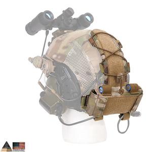 2019 Caixa de bateria Hot EMS MK1 para EMERSON capacete tático Capacete Bolsa Caça Acessórios Noite Bolsa Helmet Bag Multicam