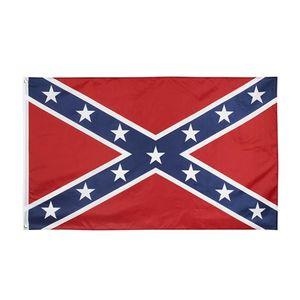 جنوب العلم معركة الكونفدرالية العلم الولايات المتحدة 150 * 90CM البوليستر أعلام الوطنية وجهين مطبوعة أعلام الحرب الأهلية HHA1386