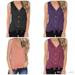 Без рукавов жилет V воротник дна рубашки чистые цвета дамы кардиган Майка лето Сексуальная популярная домашняя одежда 17sj E1