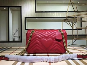 Free shipping Marmont bag Luxury Handbags high quality Famous Brands Designer Handbags women bags Genuine Leather Shoulder Bags Three size