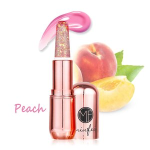 Diamond Waterproof Gloss Jelly Star Moisturizer Natural Transparent Change Color Shiny Lipstick Portable Long Lasting Makeup