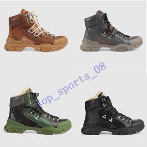 Logotipo original caliente de gran tamaño del nuevo del estilo de otoño e invierno Martín hombres de las mujeres zapatos de los cargadores al por mayor de la nieve de arranque Luxur cuero de las botas cortas 35-45