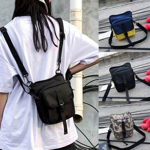 2W # Mode Neutral Canvas Solid Color Schultertasche Messenger Bag Multi-Purpose Frau handsbag bolsa feminina