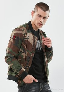 2018 autumn men's baseball jacket camouflage fashion jacket winter coat new design men jacket blazer outwear size M-3XL DSW272