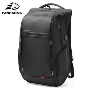 Kingsons USB Charge Anti Theft рюкзаки мужчины путешествия водонепроницаемый школьные сумки колледж подросток мужской 13/15/17 дюймов ноутбук BackpackMX190903