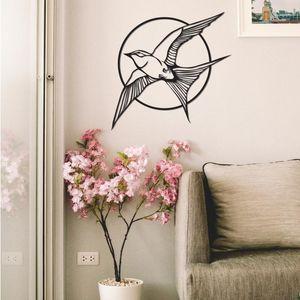 Barn Swallow Duvar Dekor, Metal Wall Art, Minimalist Tasarım, Kuş Dekor, Uçan kuşlar Salon Sanat