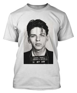 Frank Sinatra-T-Shirt Sinatra-Verbrecherfoto-T-Shirt Blues Jazz Dtg