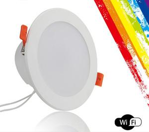 Smart WiFi LED encastré Rénovation Downlight 6 pouces, 15W plafond bas d'éclairage Compatible avec Alexa, Siri et Google Accueil