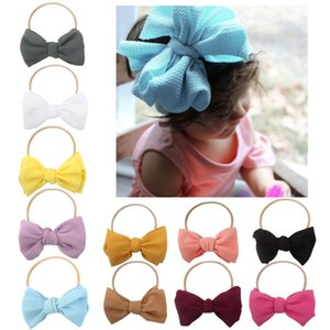 HOT NEW NEW Toddler Baby Girls Soft Hairband Bowknot Headwear Cute Girl Hair Accessories Elastic Band