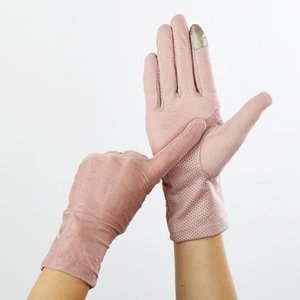 Sexy Lace Sunscreen Gloves summer Women Stretch Thin Touch Screen Anti Uv Slip Resistant Driving Gloves Breathable