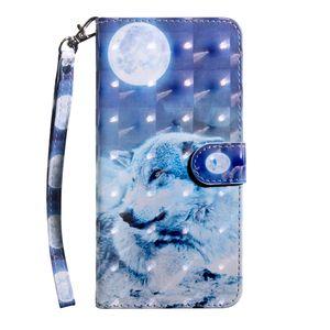 3D кожаный бумажник чехол для Iphone SE 2020 Samsung Galaxy A41 A31 A11 цветка собаки Lace Wolf Tiger Cat Сова Роскошные карты Slot ID Кошелек откидная крышка