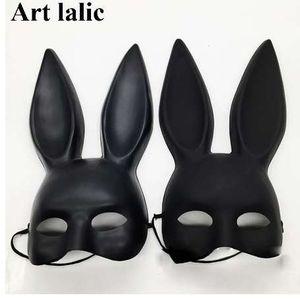 علامة سوداء النساء فتاة مثير آذان أرنب قناع لطيف الأرنب آذان طويلة عبودية قناع هالوين تنكر حزب تأثيري حلي الدعائم