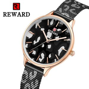 Montre de haute qualité Montre Slim femmes imperméable Mesh Leopard femmes Watch femmes de luxe REWARD