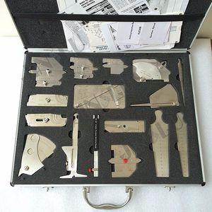 Stainless steel welding measure gauge kits combine suit 16 piece weld gauge