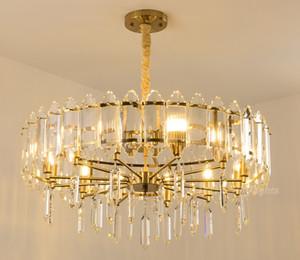 Cristalina moderna lámpara del dormitorio colgante de cristal luces de la cocina de techo iluminación de la lámpara de la sala clásico lámparas pendientes de comedor LLFA