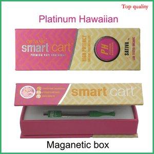 증발 포장 스마트 쇼핑 카트 새로운 자기 박스 빈 Vape 카트리지 세라믹 코일 Vape 펜 유리 분무기 녹색 Smartcart 색상 실버 호일