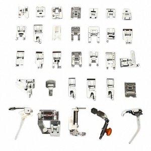 Pés 32PCS Presser conjunto de acessórios para máquina de costura Low Shank Bordados Artes Máquina, Artesanato Costura TB Venda 049f #