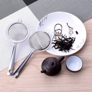 Maille fine en acier inoxydable Passoire Passoire Tamiser la farine avec poignée jus thé glace Passoire de cuisine Outils