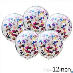 12inch 100pcs lot Multicolor Latex Sequins Filled Clear Balloons Novelty Kids Toys Confetti Ballons Birthday Party Wedding Decorations