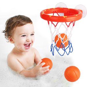 소년 아이 아이 야외 게임 개발을위한 빨판 설정에 농구 후프 목욕 장난감 아기에 대한 흥미있는 실내 스포츠 도구 키트