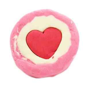Huqstore 200g Piece Handmade Pink Heart Bath Salt Rose Essential Oil Bath Salt Explosion Ball Bath Ball
