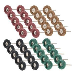 40pcs Mini Grinding Brush Nylon Fiber Polishing Wheel