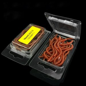 20Pcs Lot 8Cm 10Cm Soft Fishing Lure Red Simulation Earthworm Artificial Fishing Bait Worms Fishing Tackle Pike CHEPg