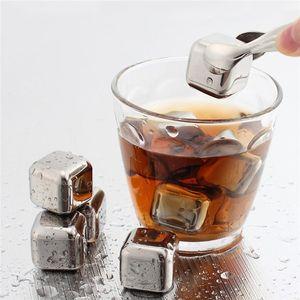 Metal Paslanmaz Çelik Kullanımlık Buz Küpleri Viski Şarap Bar KTV Malzemeleri için Chilling Taşlar Sihirli Wiskey Şarap Bira Soğutucu Toplu