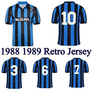 1988 1989 Brehme Bergomi Matthaus retro soccer jersey Inter 88 89 Berti Zenga Serena Klinsmann vintage classic football shirt