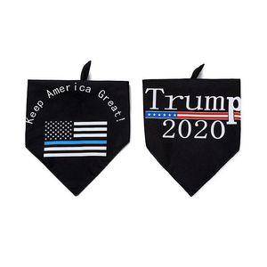 Trump Pet Полотенце 2020 Новая американская избирательная Двусторонний Домашние животные Triangle Полотенце Dog Слюна Полотенце питомцев IIA34