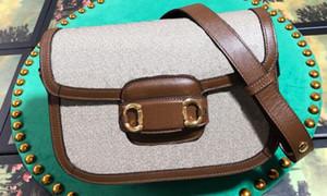 Realfine888 5A 602204 25cm 1955 Horsebits bolsos de hombro para la mujer, con la bolsa de polvo + caja de número de serie, envío libre de DHL