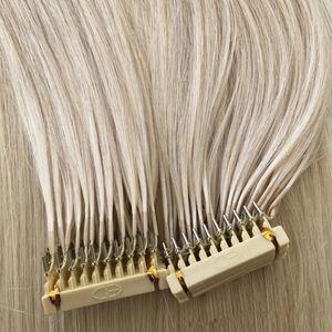 뜨거운 판매 0.5g/s150g300Strands 유럽 6d 머리 연장 16 18 20 22 24inch 브라질 유럽 사람의 모발 연장