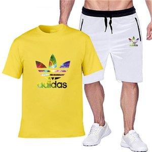 esportes dos homens se adequar Brar terno T-shirt dos homens de duas peças de design e shorts de formação de lazer corredores aptidão dos homens desportivos 0007
