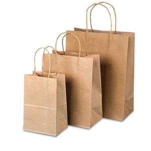 Recyclé en papier kraft sac en papier sac fourre-tout cadeau Portable Brown Matte Sacs pour cadeaux Mariages et Shopping