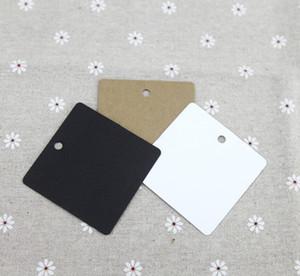 2019 Nova venda quente 6 * 6 cm quadrado em branco etiqueta etiqueta de roupas de papel cartões de sabão artesanal tag cartão de identificação