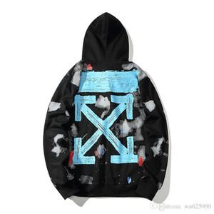 Para hombre con capucha de lujo nuevas sudaderas con capucha casuales de impresión Hip Hop Streetwear hombres Marca de la marea y las mujeres con el mismo párrafo suéter # 655